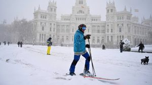 Tormenta filomena en Madrid en 2020